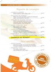 Menu Happy Lunch - Les sandwiches