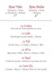 Menu La Grosse Blind - Les menus et les pizzas