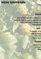 Menu La Cave à Champagne - Le menu gourmand