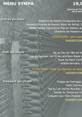 Menu La Cave à Champagne - Le menu sympa