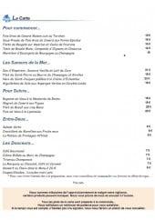 Menu La cloche - Les entrées, saveurs de la mer...