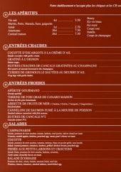 Menu Le Central - Les apéritifs, entrées chaudes,...