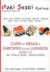 Carte et menu Hoki sushi Pierry