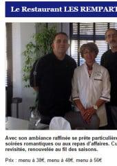 Menu Les Remparts - Les menus du restaurant