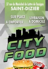Menu City Food - Carte et menu City Food Saint Dizier