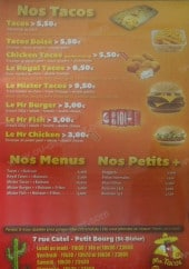 Menu Mister Tacos - Les tacos, menus,....