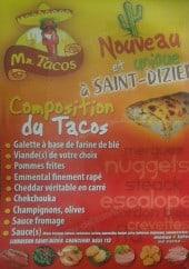 Menu Mister Tacos - La composition du tacos