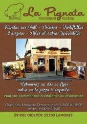 Menu La Pignata - Carte et menu La Pignata Langres