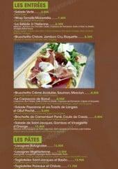 Menu La Pignata - Les entrées, les pâtes, les tartiflettes et planchas