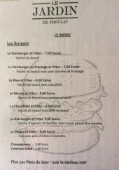 Menu Le Jardin de Froulay - Burgers