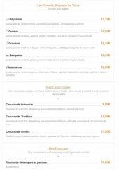 Menu Les Relais d'Alsace - Grosses pommes de terre, choucroutes et poissons