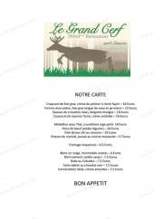 Menu Hôtel Restaurant Le Grand Cerf - La carte