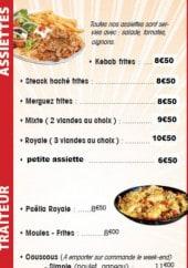 Menu L'Oasis Kébab - Les assiettes traiteurs