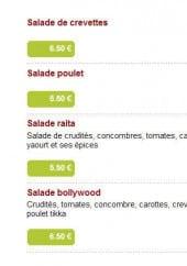 Menu A Bollywood - Les salades