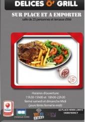 Menu Délices O' Grill - Carte et menu Délices O' Grill Nancy