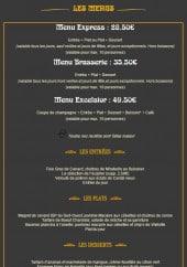 Menu Excelsior - Le menu Express, le menu Brasserie ...