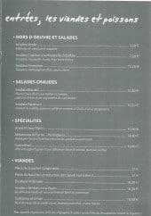 Menu IBiscotti - Les entrées, les viandes et poissons