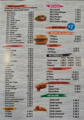 Menu Kebab cinq etoiles - Assiettes, menus et salades