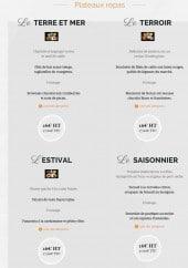 Menu L'Ardoise - Plateaux repas