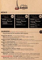 Menu L'Artisan du Burger - Carte et menu L'Artisan du Burger Nancy