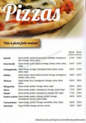 Menu Espace Gourmand - Les pizzas