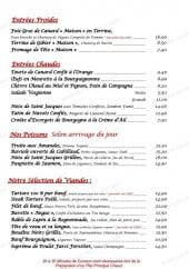 Menu Grande Brasserie Du Commerce - Les entrées, viandes et poissons