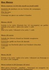 Menu La Fiesta - Les menus