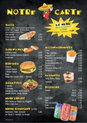 Menu Les Frères Tacos - Sandwiches, burgers, boissons,...