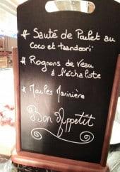 Menu Chalet du Steak - Exemple de menu