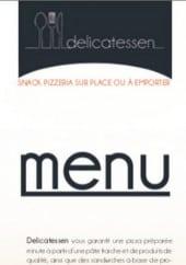 Menu Delicatessen - Carte et menu Delicatessen Dieulouard