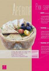 Menu Code Cuisine - Les apéritifs