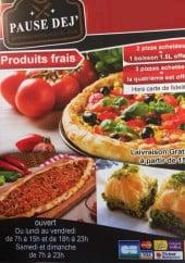 Menu Pause Dej' Pam - Carte et menu Pause Dej' Pam Pont A Mousson