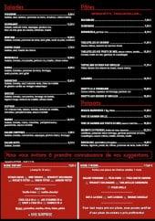 Menu Le Country - Les salades, les poissons, les pâtes et les menus