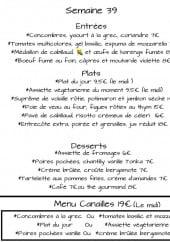 Menu Les Canailles - Entrées, plats, desserts,....