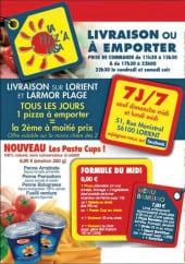 Menu Pizz'A Casa - les cartes et menus Pizz'A Casa Lorient