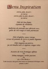 Menu Le vieux colombier - menu inspiration