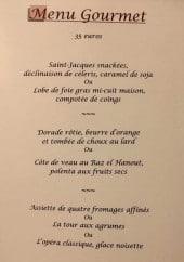 Menu Le vieux colombier - menu gourmet