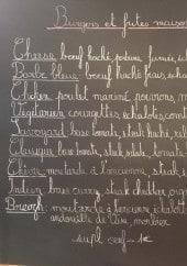 Menu La P'tite Fabrik - Les burgers