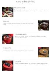 Menu Chocolaterie Fabien - Pâtisseries