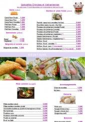 Menu So tchi - Spécialités chinoise et vietnamiennes