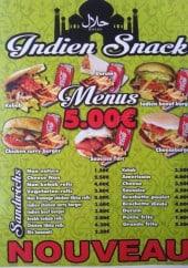 Menu Indien Snack - Les menus et sandwiches