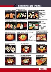 Menu Kefan Restaurant - Les spécialités japonaises
