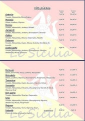 Menu Le Sicilia - les pizzas