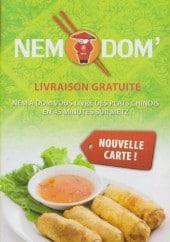 Menu Nem a Dom - Carte et menu nem a dom Metz