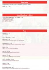 Menu Piccola venezia - Les menus et pizzas