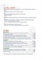Menu Saveurs et Délices - Le menu à 23€, entrées, plats et desserts