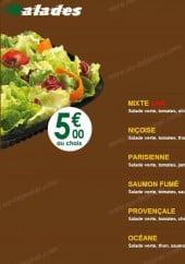 Menu Pizza tasty - Les salades
