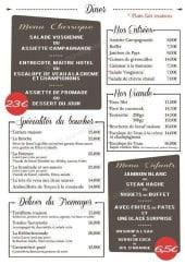 Menu Le Goeland - Les entrées, les viandes, les spécialités...