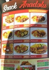 Menu Snack Anadolu - Assiettes et spéciale chichen