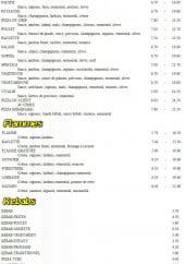Menu Miami pizza - Les pizzas suites, les flammes et les kebabs
